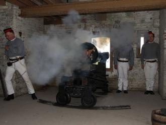 32pr SBBL being fired by the Portsdown Artillery Volunteers