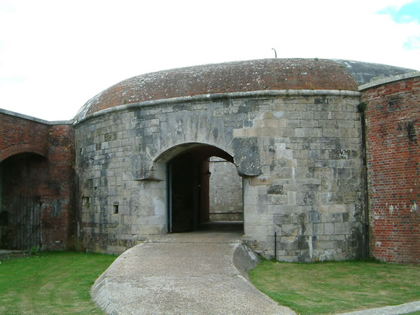 Hurst Castle entrance from the Victorian East wing