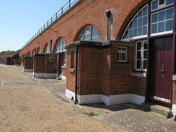Fort Brockhurst barrack rooms from the rear