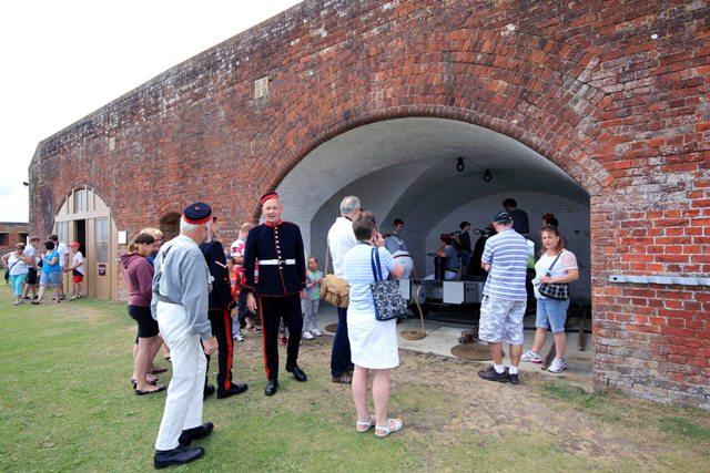 Meet & Greet out side of the Haxo casemate