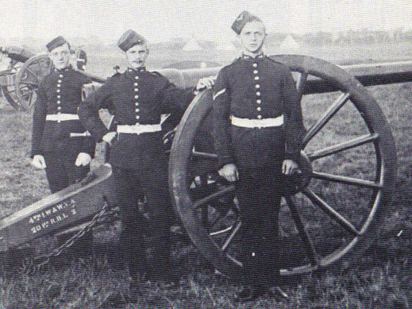 1st Worcs & Warks Artillery Volunteers with 20pdr RBL field gun, 1897