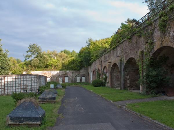 Fort Rowner barrack casemates from rear